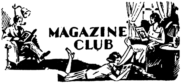 Old illustration of magazine club